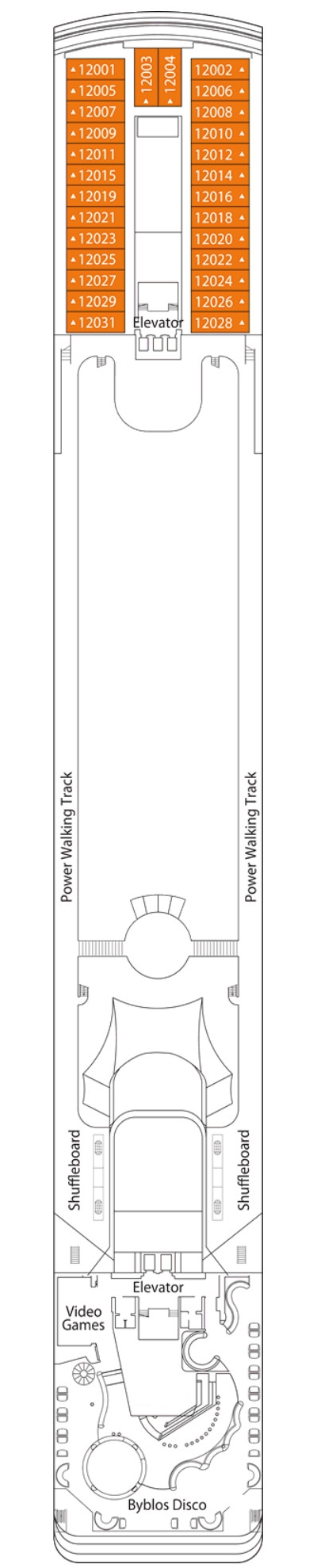 MSC Opera La Bohème Deck 12 layout