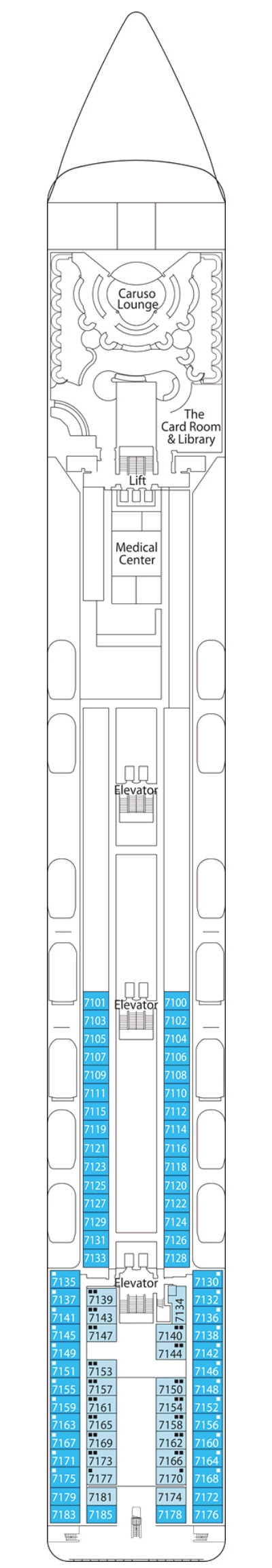 MSC Opera Rigoletto Deck 7 layout