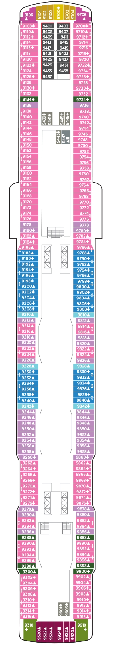 Norwegian Bliss Deck 9 layout