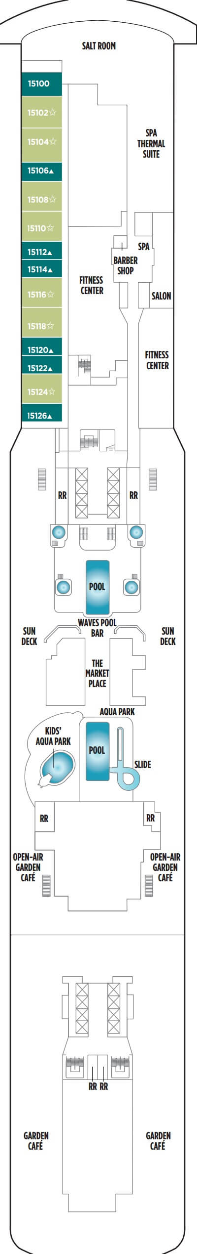 Norwegian Breakaway Deck 15 layout