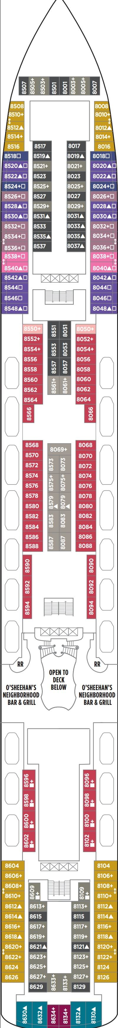 Norwegian Breakaway Deck 8 layout