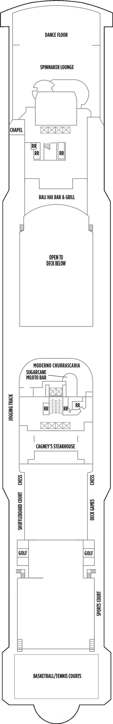 Norwegian Gem Deck 13 layout