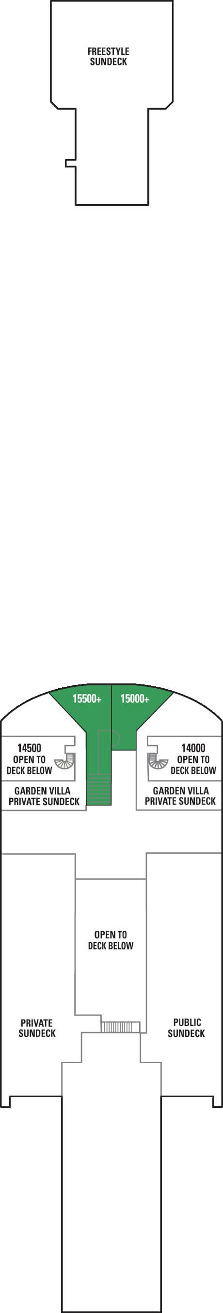 Norwegian Gem Deck 15 layout