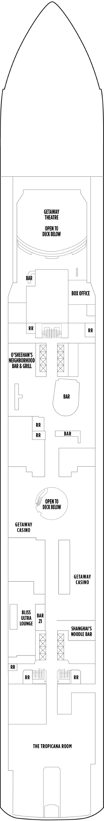 Norwegian Getaway Deck 7 layout