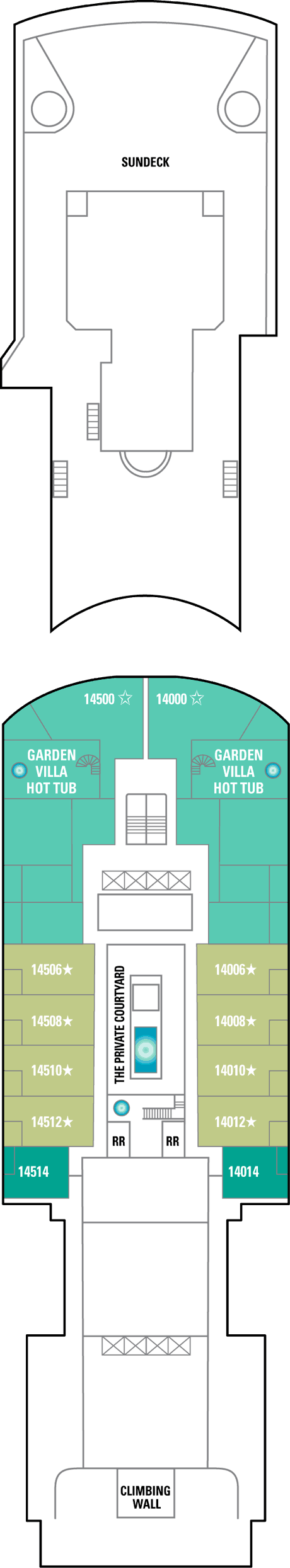 Norwegian Pearl Deck 14 layout