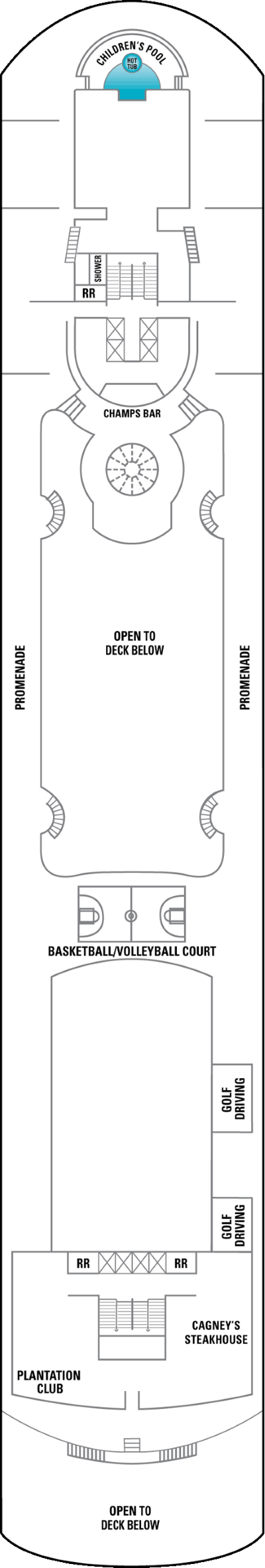 Norwegian Sky Deck 12 layout