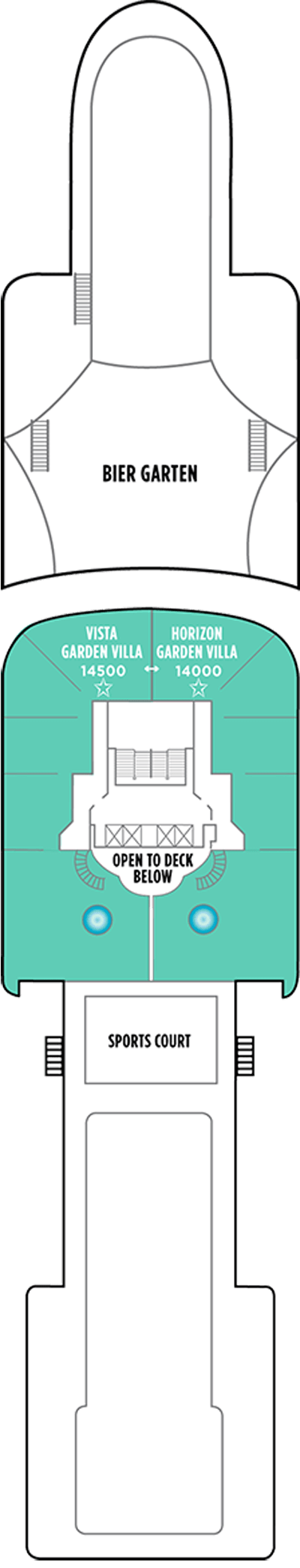 Norwegian Star Deck 14aft layout