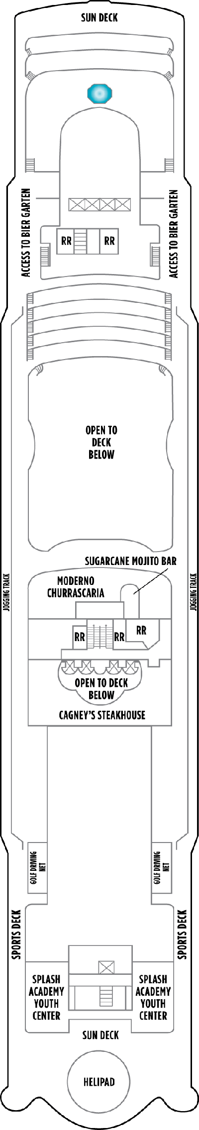 Norwegian Star Deck 13 layout