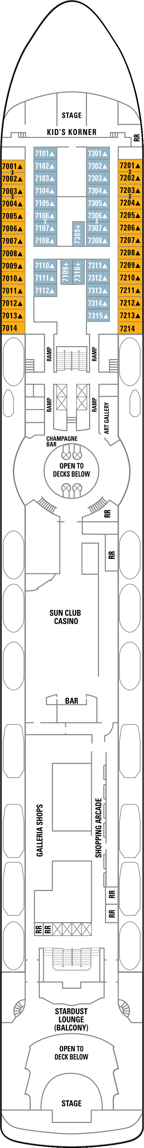 Norwegian Sun International Deck layout