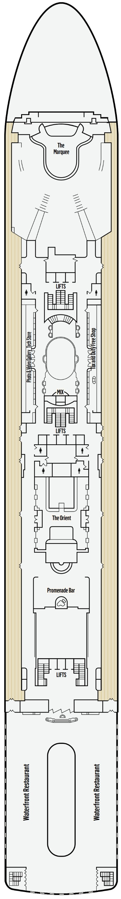 P&O - Pacific Dawn Deck 7 layout