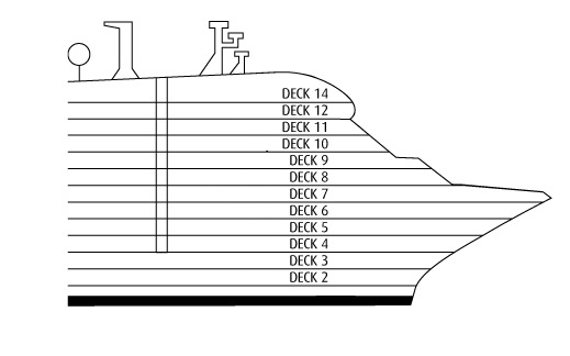 P&O - Pacific Dawn Deck 4 overview