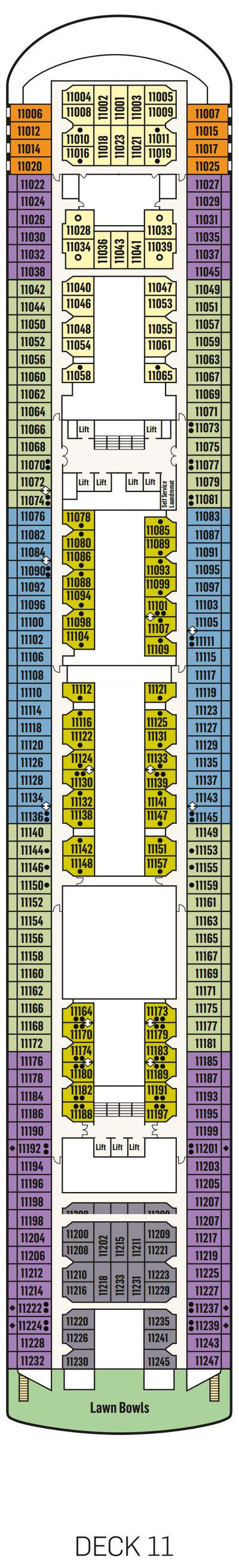 P&O - Pacific Explorer Deck 11 layout