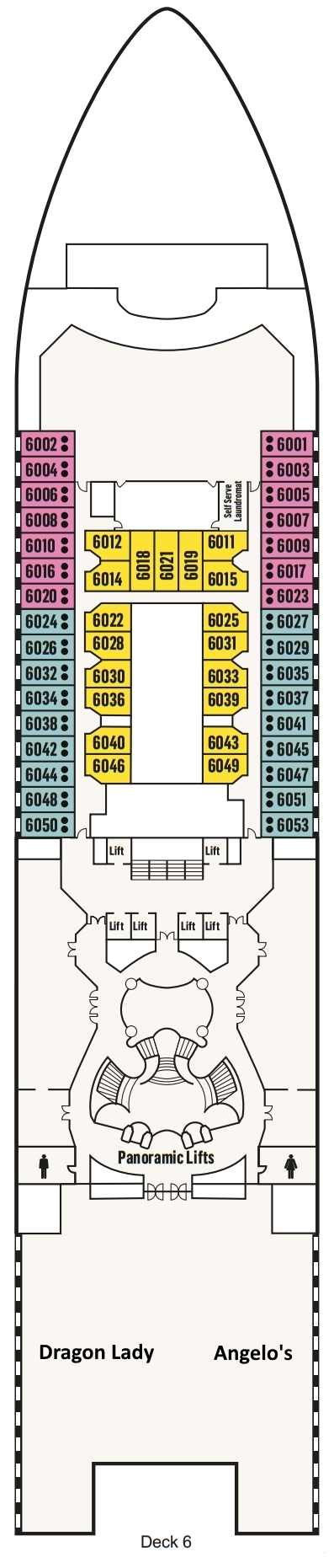 P&O- Pacific Explorer Deck 6 layout