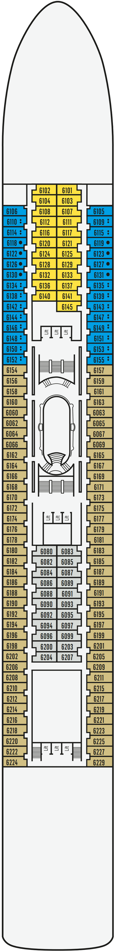 P&O - Pacific Jewel Deck 6 layout