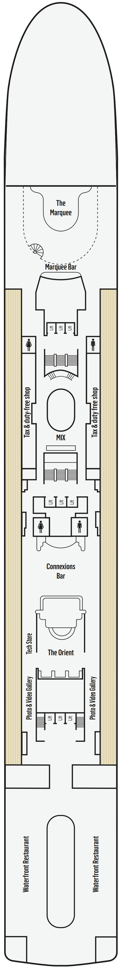 P&O - Pacific Jewel Deck 7 layout