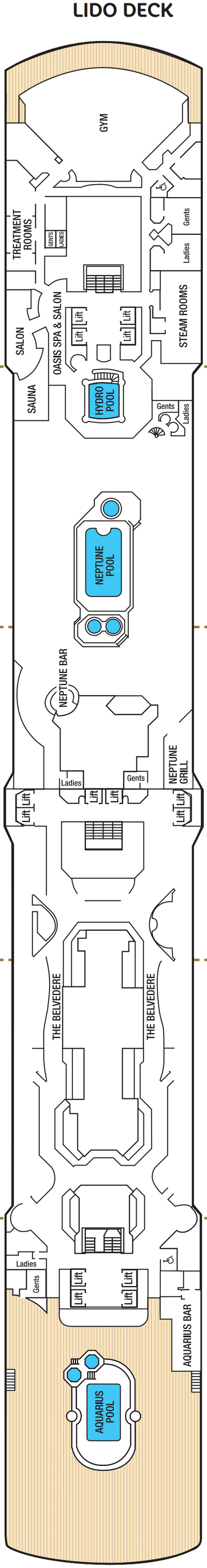 Arcadia Lido Deck layout