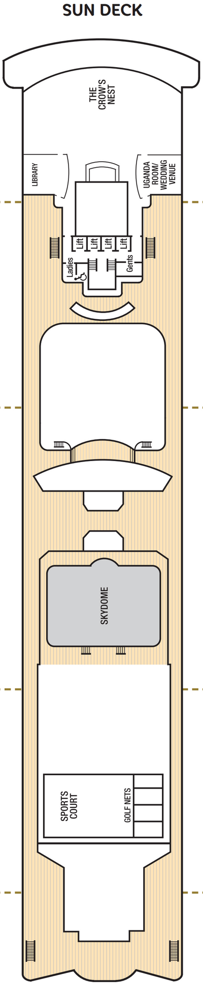 Aurora Sun Deck layout