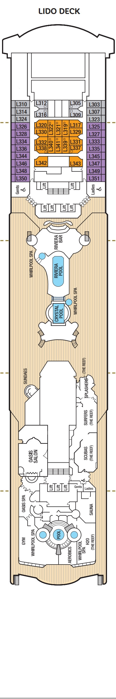 Oceana Lido Deck layout