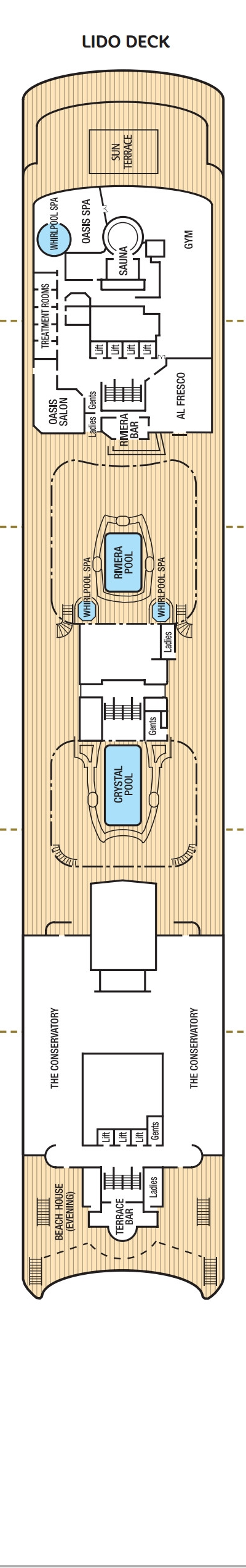 Oriana Lido Deck layout