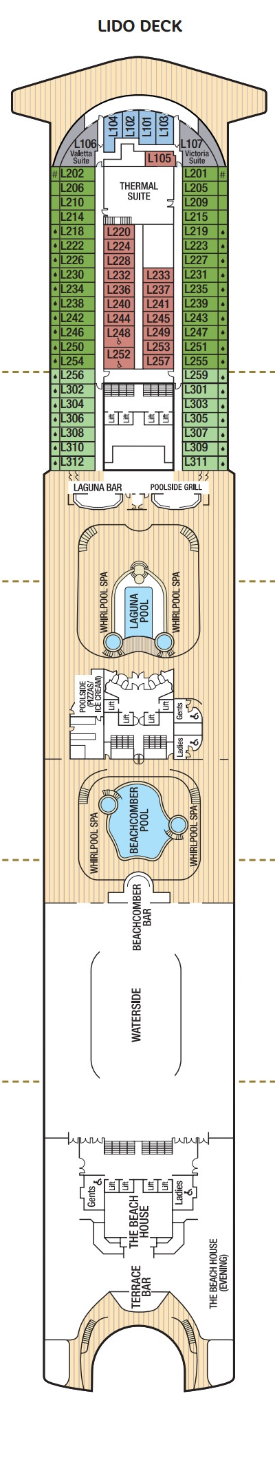 Ventura Lido Deck layout
