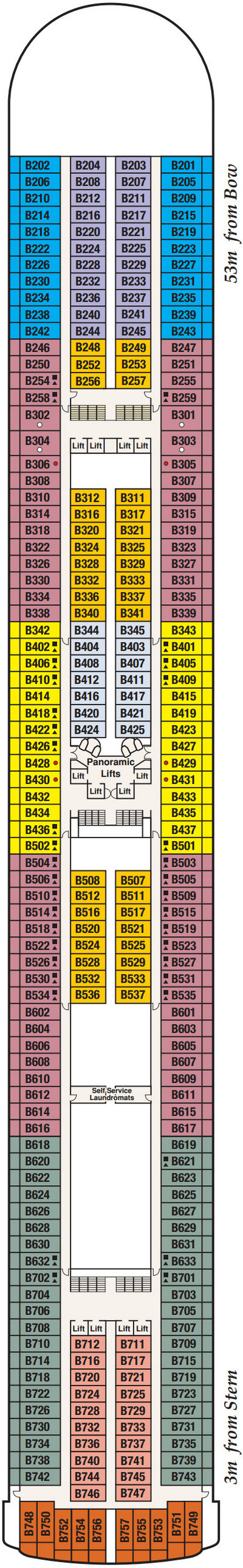 Caribbean Princess Baja Deck 11 layout
