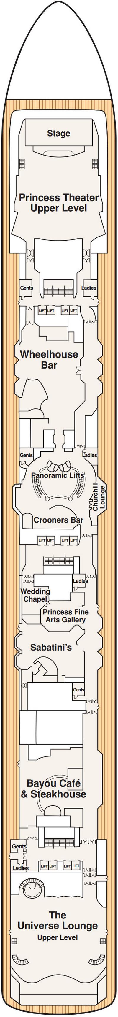 Coral Princess Promenade Deck 7 layout