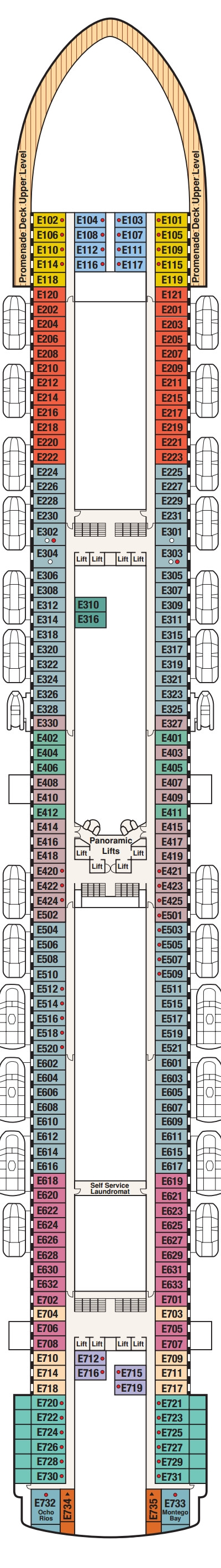 Crown Princess Emerald Deck 8 layout