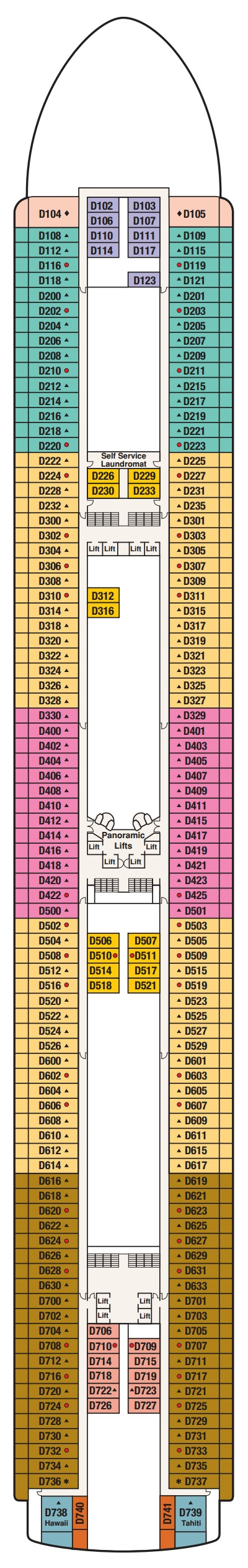 Diamond Princess Dolphin Deck 9 layout
