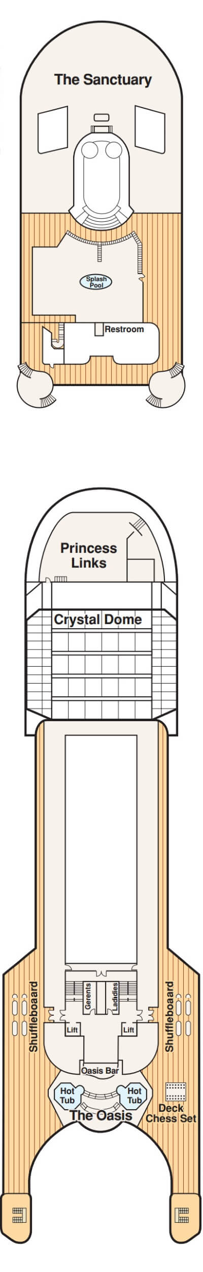 Grand Princess Sports Deck 16 layout