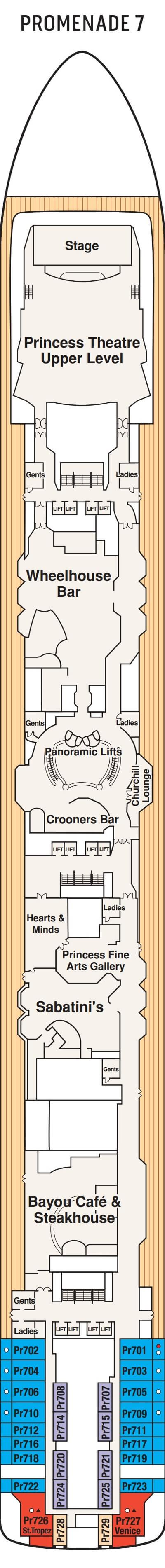 Island Princess Promenade Deck 7 layout