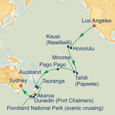 Hawaii and tahiti and south pacific crossing cruises from sydney hawaii and tahiti and south pacific crossing itinerary gumiabroncs Choice Image