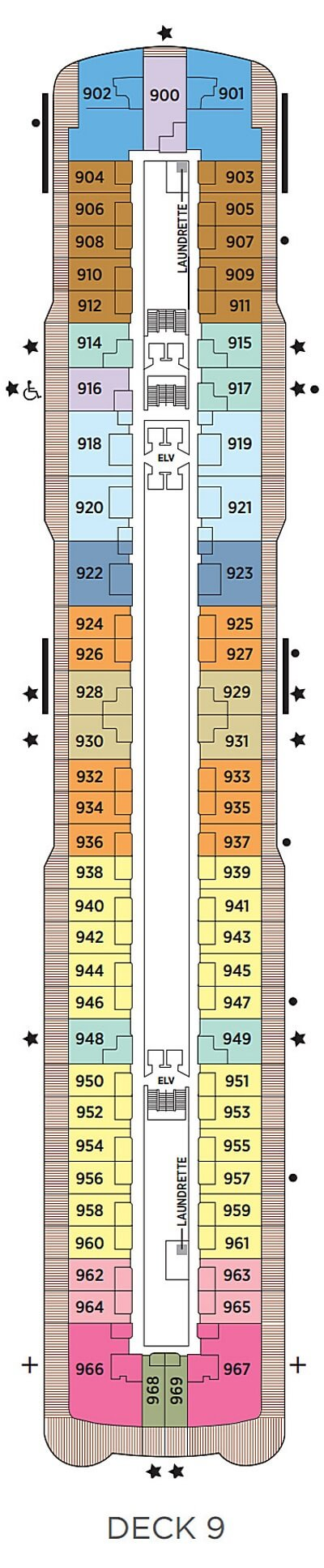 Seven Seas Explorer Deck 9 layout