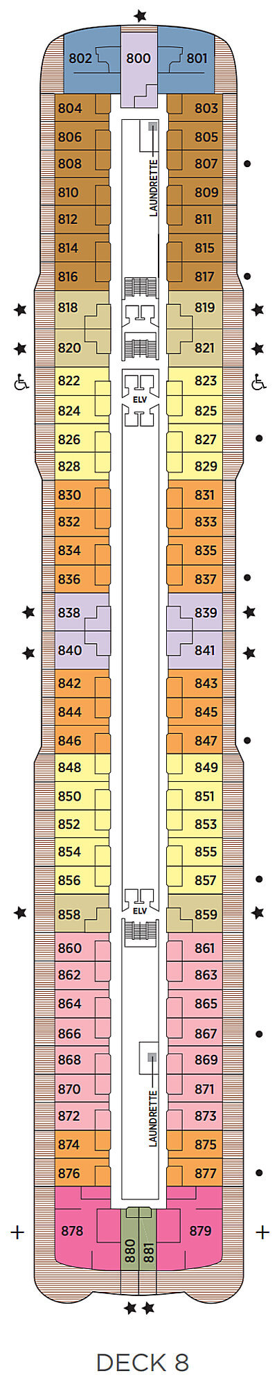 Seven Seas Explorer Deck 8 layout