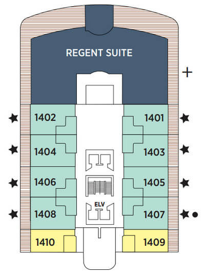 Seven Seas Explorer Deck 14 layout