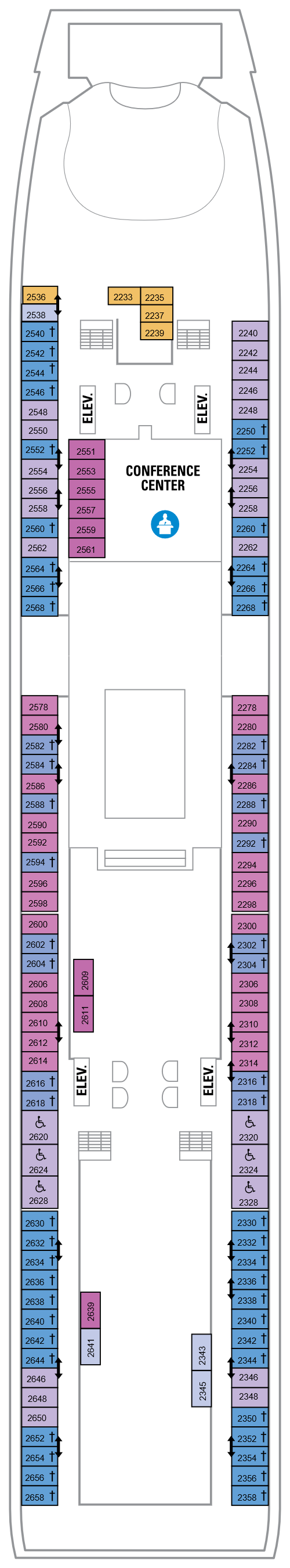 Adventure Of The Seas Deck 2 layout
