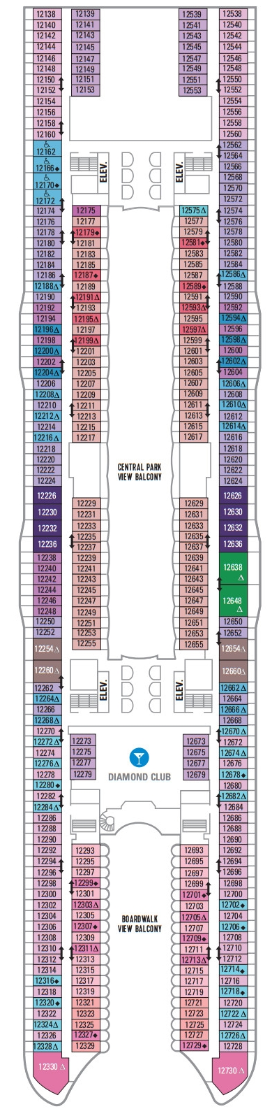 Allure Of The Seas Deck 12 layout