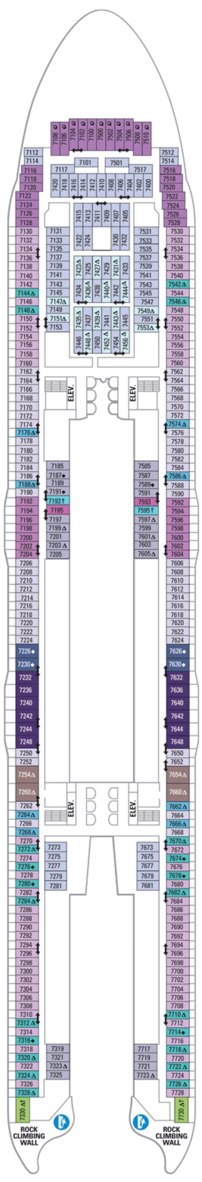 Allure Of The Seas Deck 7 layout