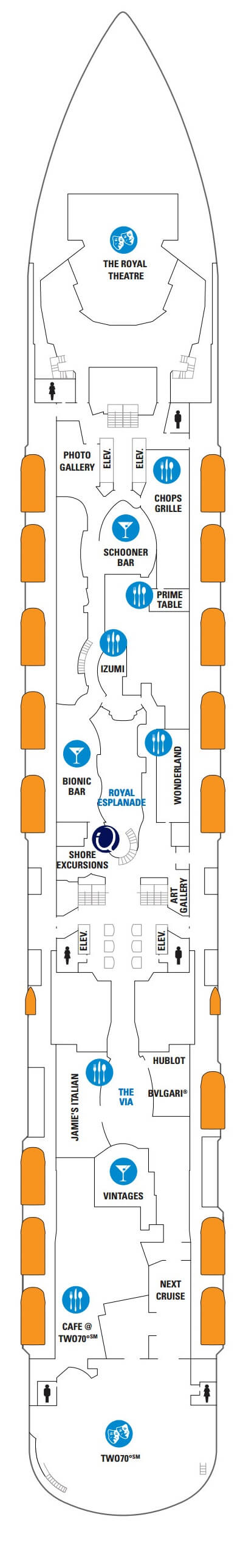 Anthem Of The Seas Deck 5 layout
