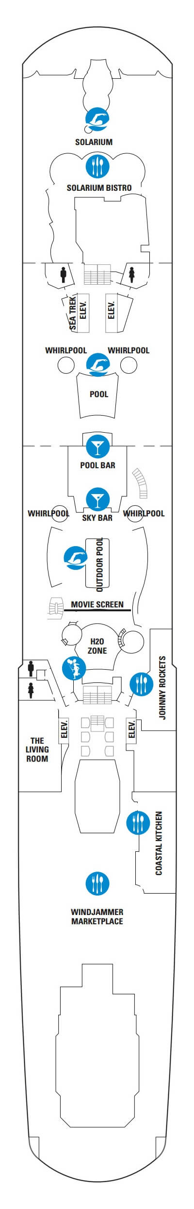Anthem Of The Seas Deck 14 layout