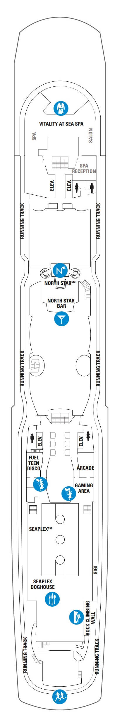 Anthem Of The Seas Deck 15 layout