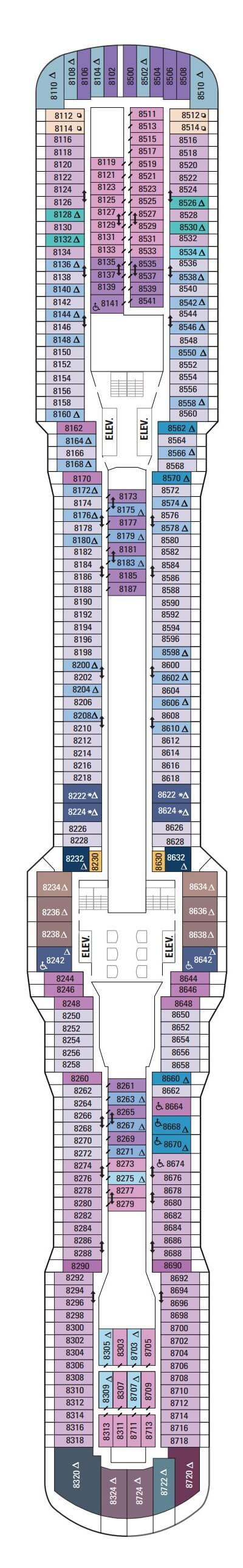 Anthem Of The Seas Deck 8 layout