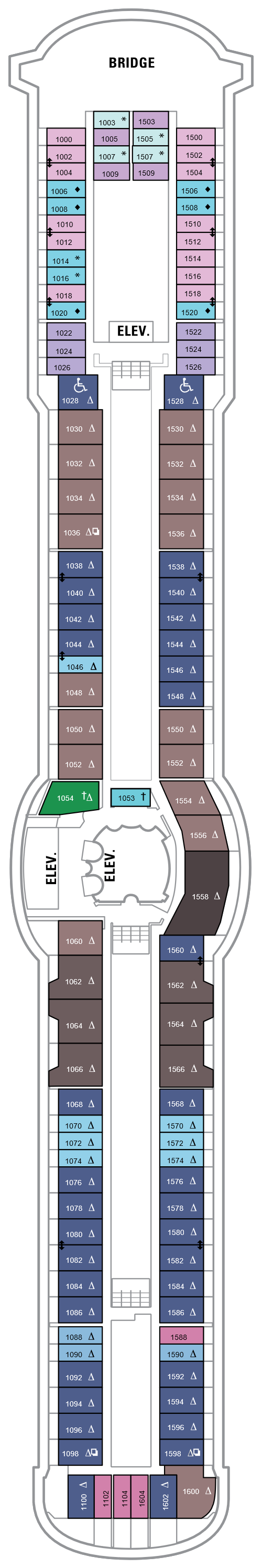 Brilliance Of The Seas Deck 10 layout