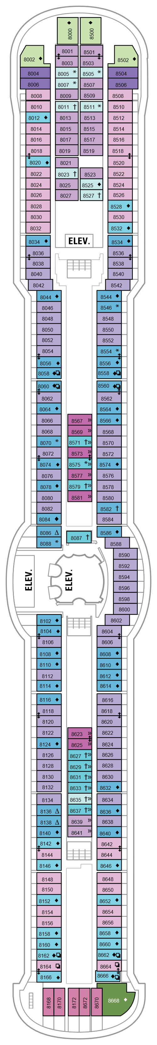 Brilliance Of The Seas Deck 8 layout