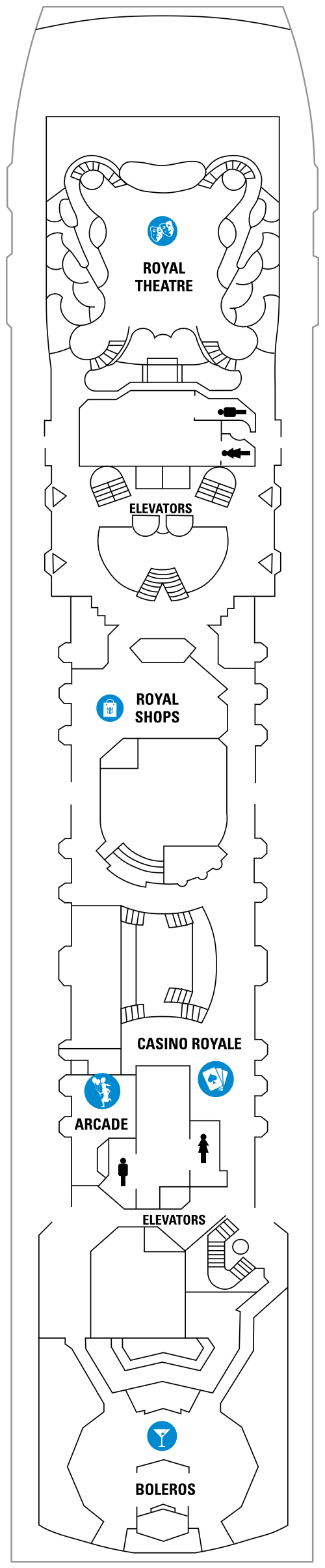Empress Of The Seas Deck 6 layout