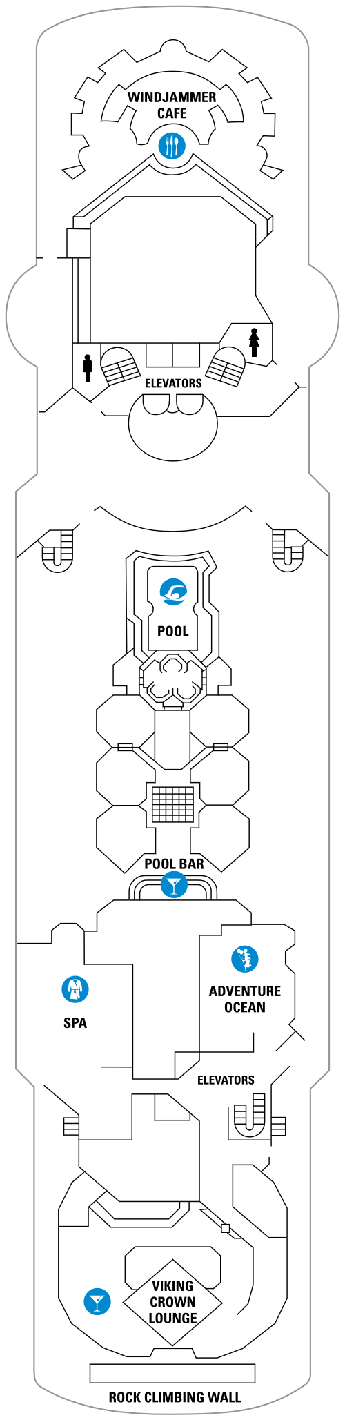 Empress Of The Seas Deck 10 layout