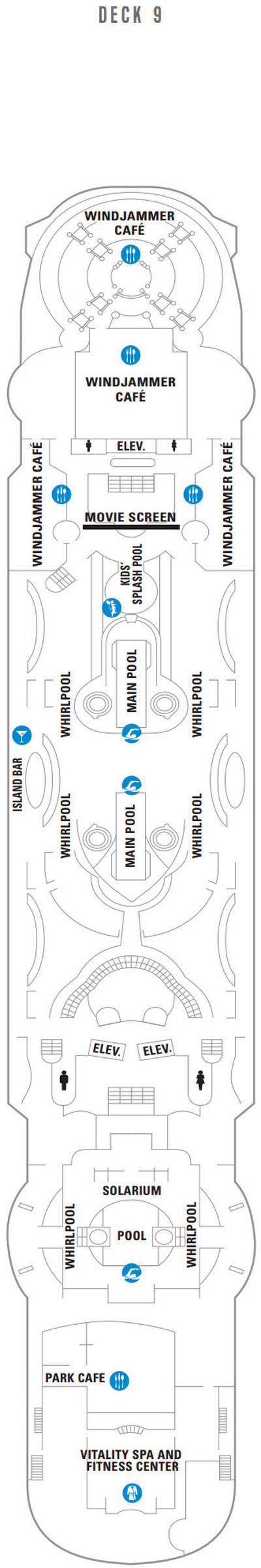 Enchantment Of The Seas Deck 9 layout