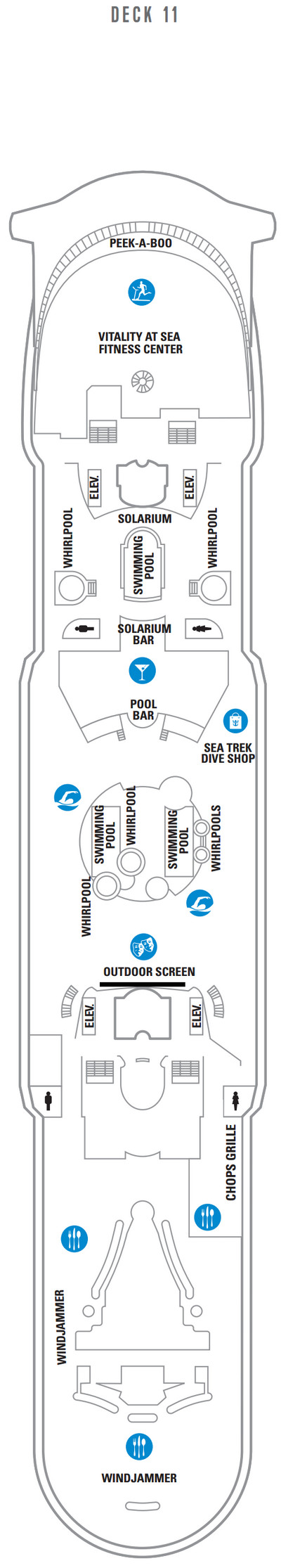 Explorer Of The Seas Deck 11 layout