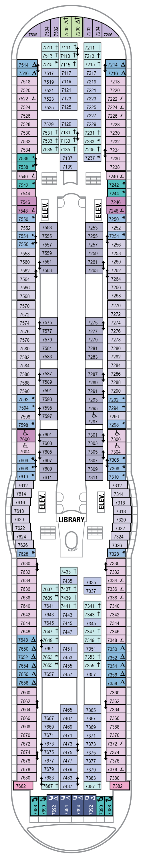 Explorer Of The Seas Deck 7 layout