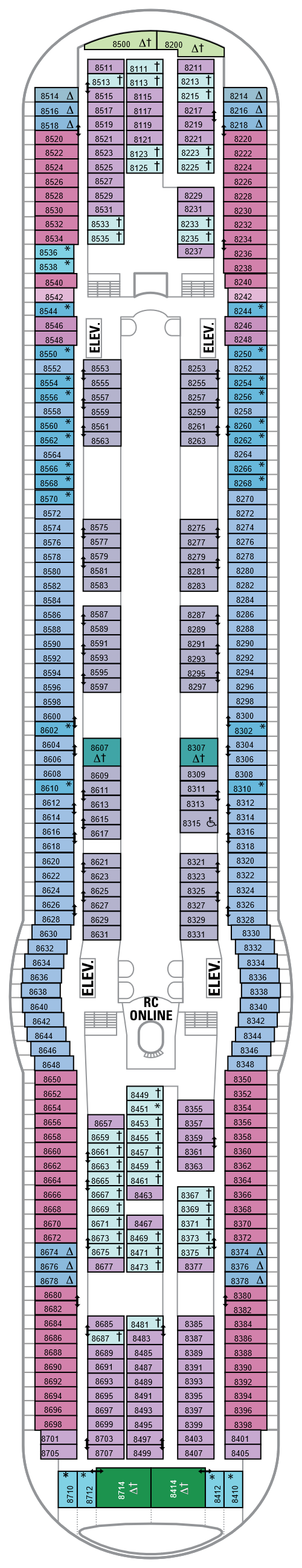 Freedom Of The Seas Deck 8 layout