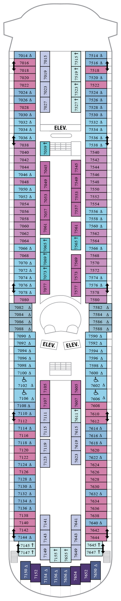 Grandeur Of The Seas Deck 7 layout